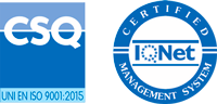 Logo ISO 9001 and logo IQNET certifications